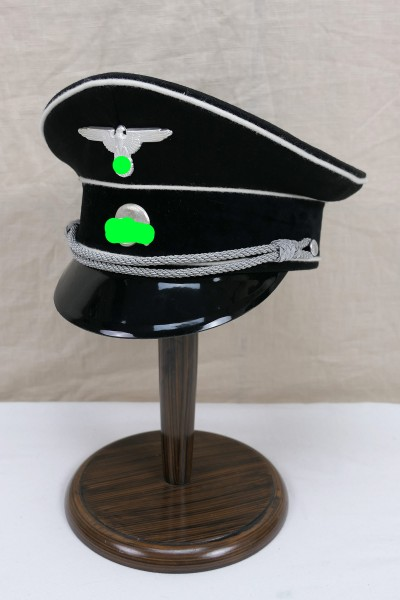 WSS Elite visor cap officer black size 59 with effects