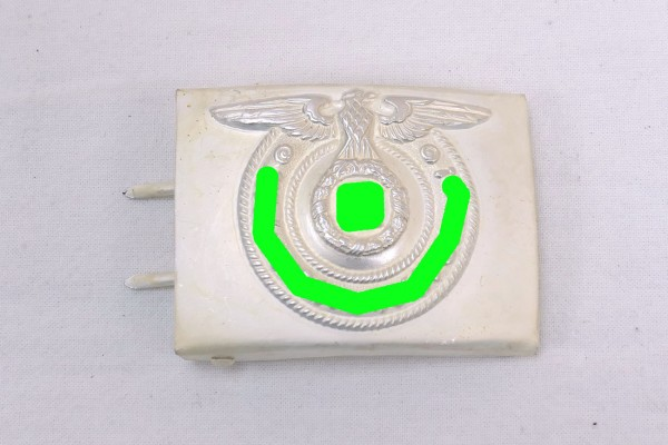 WSS Belt buckle teams weapons elite steel silver plated RZM MEhT 36/42