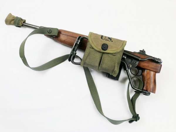 M1 Carbine folding stock deco model film gun + shoulder strap + magazine pouch