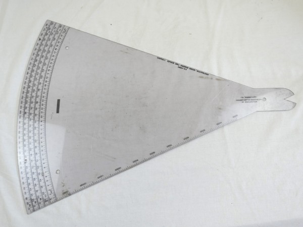 US Army Protractor Sound Ranging Time Scales - / Protractor for Time Determination