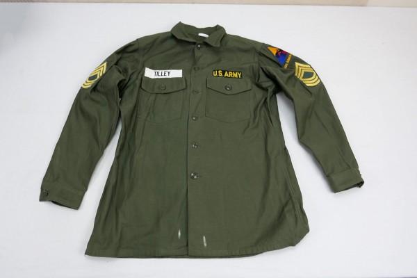 Original US field shirt olive field shirt M/Sgt Master Sergeant Armor Center
