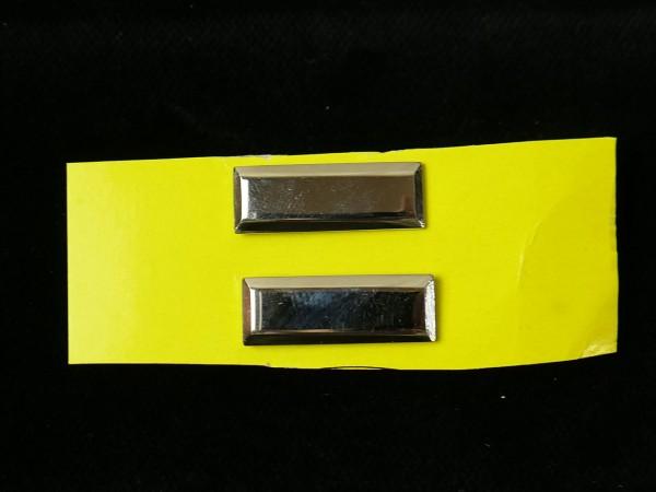 US LIEUTENANT BARS 1xPair Level Silver Badge of Rank