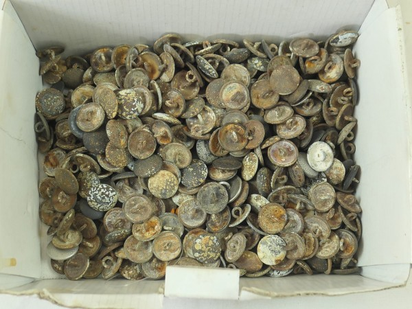 Wehrmacht uniform buttons buttons with eyelet 10x pcs. 21mm grained