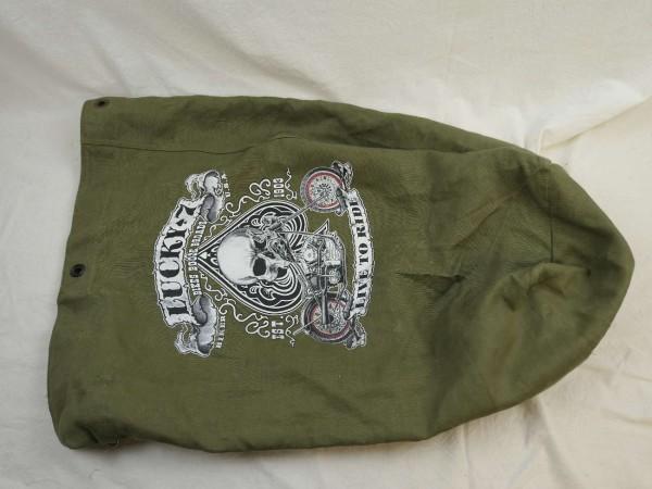 US Army Duffel Bag with Vintage Print