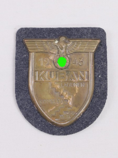 sleeve shield Luftwaffe Kuban 1943 Kuban shield on blue-grey cloth