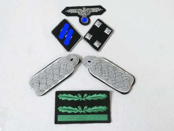 Set of Effects Badges Weapons Elite Shoulderboards Sleeve Eagle Collar Mirror for Sturmbannführer