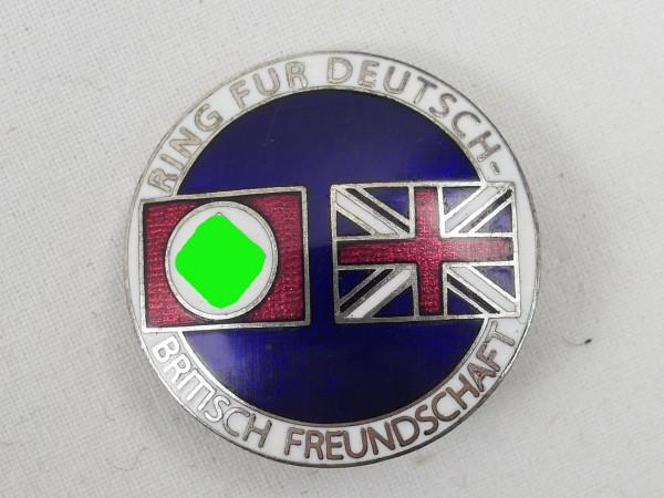 Ring for German-British Friendship Enamelled