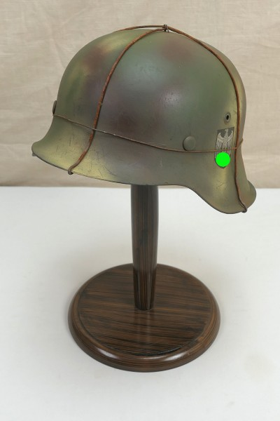 Wehrmacht steel helmet camouflage helmet M42 Gr.59 original army bell stamped SD with chicken wire