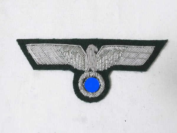 Uniform Officer's breast eagle M36 silver thread embroidered for field blouse variant