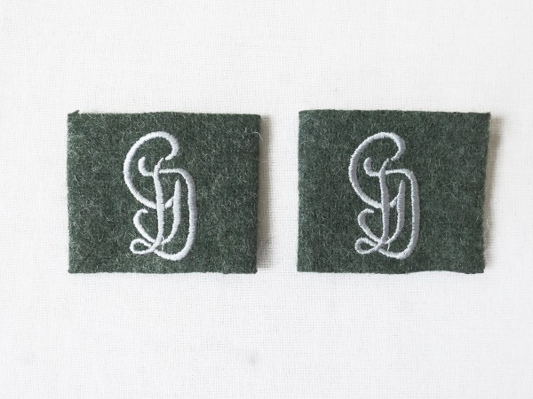Wehrmacht Großdeutschland GD 1x pair of extensions for epaulettes extensions