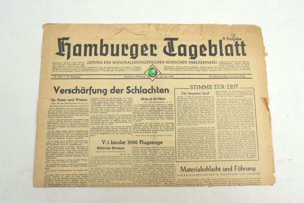 WK2 daily newspaper Hamburger Tageblatt newspaper 25 July 1944